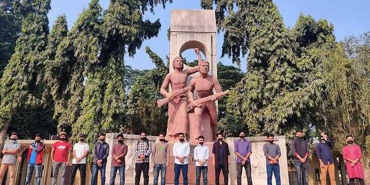 মুখে কালো কাপড় বেঁধে রাবি সাংবাদিকদের প্রতিবাদ - Bongo Mirror